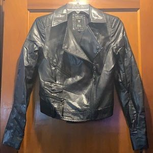Guess faux leather moto jeacket xs